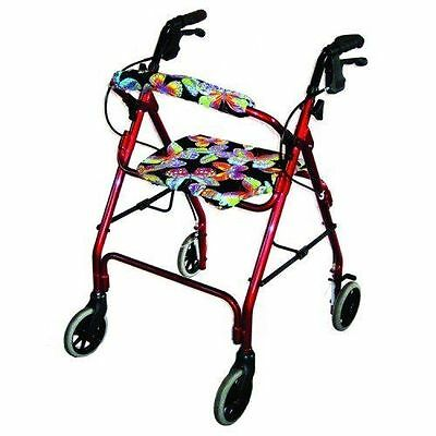 """Coverz"" Custom Walker Seat & Roll Bar Covers Rollator Covers Neon Butterfly"