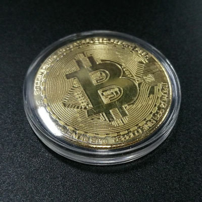 *2 Pack* Bitcoin Physical Bitcoin Gold Color BTC Cryptocurrency Collectible Coin