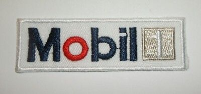 "Mobil 1 Oil Patch~Car Auto Racing~3"" x 1 15/16""~Embroidered~Iron Sew~Ships FREE"