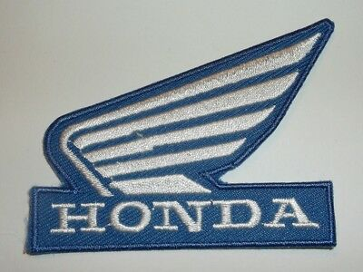 "Honda Wing Patch~Biker~Motorcycle Racing~2 7/8"" x 2 1/4""~Embroidered~Iron Sew"