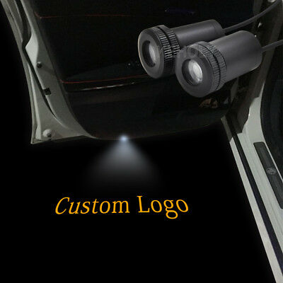 2pcs Laser Led Welcome Lights Projector Car Door Ghost Shadow Lamp