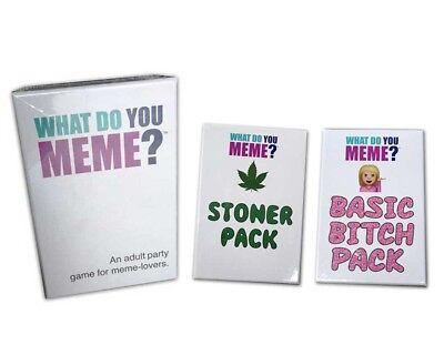 What Do You Meme Core Game | Stoner Pack Expansion | Basic Bitch Pack Expansion