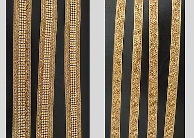 Sewing Gold Stone Trim Lace Craft Art Dress Fabric Edges Ribbon Clips Bow