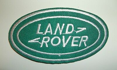 "Land Rover Patch~British Car Automotive~2 3/4"" x 1 1/2""~Embroidered~Iron Sew On"