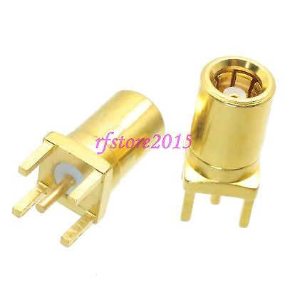1pce Connector SMB female jack solder PCB mount straight RF COAXIAL