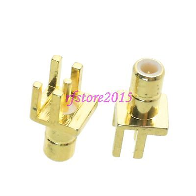 1pce Connector SMB male plug solder PCB clip edge mount straight RF COAXIAL