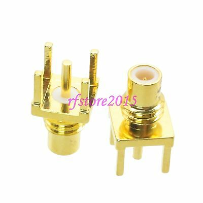 1pce Connector SMC male plug solder PCB mount straight RF COAXIAL