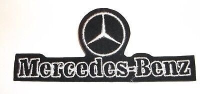 "Mercedes Benz Patch~German Car Auto Racing~4 3/4 x 2""~Embroidered~Iron Sew On"