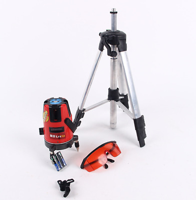 360° Laser Level Kit Self-Levelling 5 Line 6 Point Measuring Crossline  Tripod