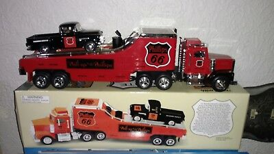 Taylor Trucks, Phillips 66  Car Carrier With 1955 Chevy Pickup Truck 1/32 Scale