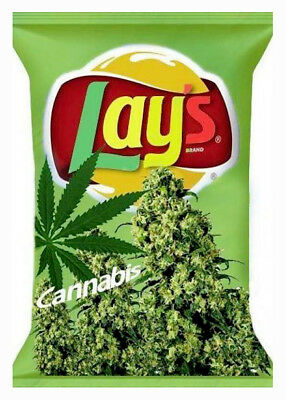 Weed Cannabis Marihuana Funny Lay's Chips Picture Photo Fridge Magnet WD09