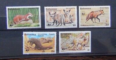 Botswana 1977 Diminishing Species set MNH