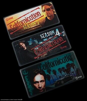 Californication TV 3 x Production Used Crew Parking Passes ScreenUsed Prop COA
