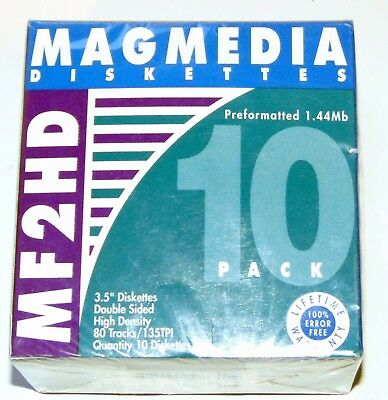 "Magmedia MF 2HD 3.5"" Diskettes 1.44Mb - 10 pack - Factory sealed Floppy Disk"