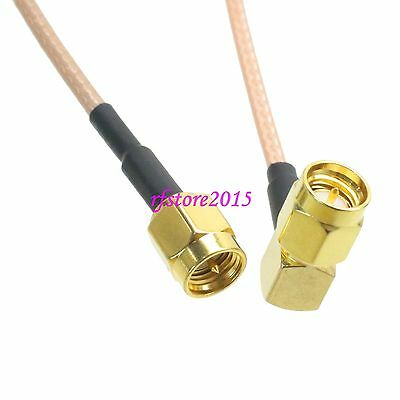 Cable RG316 SMA male plug to SMA male plug right angle RF Pigtail Jumper