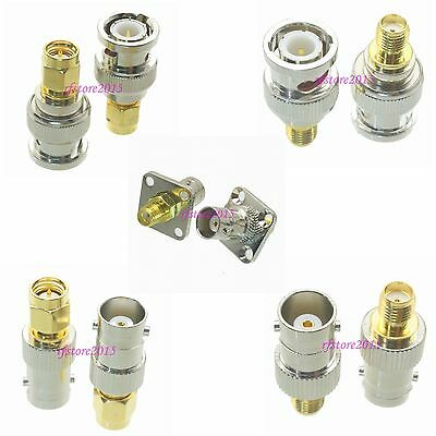 10pcs Adapter Connector BNC to SMA for Radio Antenna