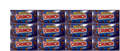 912493 12 x 90.7g THEATRE BOXES OF NESTLE BUNCHA CRUNCH BUNCHES OF CRUNCHY MILK
