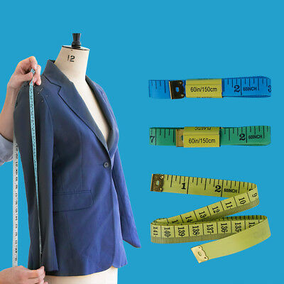 "Flat Soft Sewing Cloth Tailor Tape Measure For Body Measuring Ruler 1.5M 60"" UK"