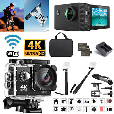 Sport Camera Ultra 4K Full HD 1080P WiFi Action Camcorder W/ GO PRO Selfie Stick