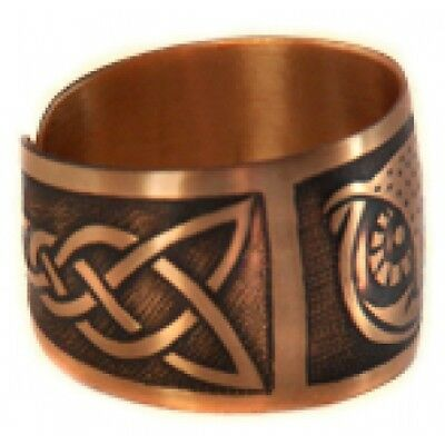 Pure 100% Copper Ring Bioactive Vintage Style Bronze Owl