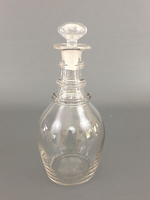 Antique hand blown FEDERAL period crystal wine decanter  c.1810's