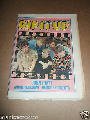 Nz Music Mag Split Enz 1982 (The Cure/gang Of Four/the Clash/joan Jett Ads)