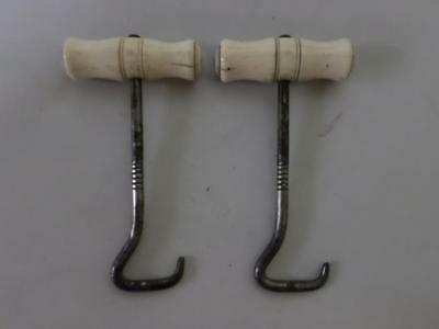 Antique Military/ Hunting Boot Pulls with Hand Carved Detail to Handles 16cm