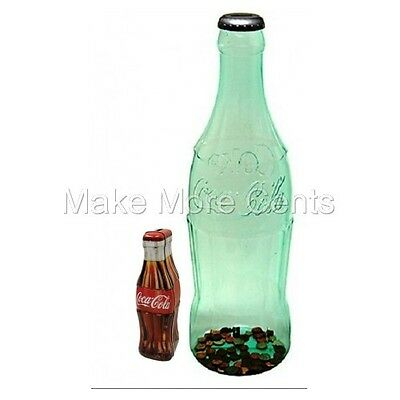 "Coke Coca-Cola Coin Bottle Bank Combo - Giant 23"" Bottle and 9.5"" Tin Bottle"