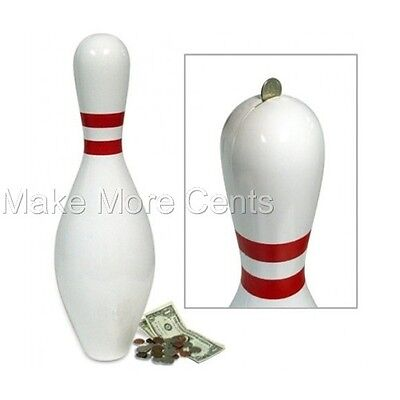 Bowling Pin Bank - Giant Pin is almost 2 feet tall! FREE SHIPPING