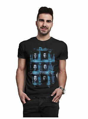 Game of Thrones Season 6 Deathmasks Licensed Tee T-Shirt Men