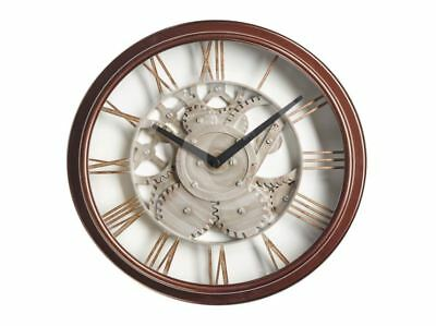 The Garden & Home Co. Station Wall Clock Bronze Traditional Metal Effect Classic