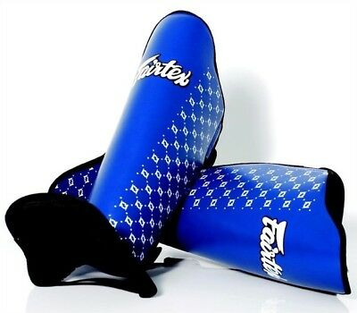 Fairtex SP5 Competition Shin Guards Blue [Size: Large]