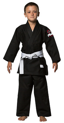 Fuji Kids Jiu-Jitsu Gi [Colour: Black] [Gi Size: C0]