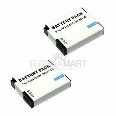 2x Rechargeable DMW-BCM13E Battery For Panasonic DMC-ZS30 DMC-TS6 DMC-LZ40
