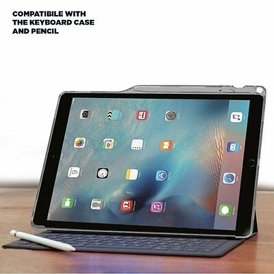 For iPad Pro 12.9 Case Poetic [Lumos] TPU+Keyboard Compatible Pencil Holder