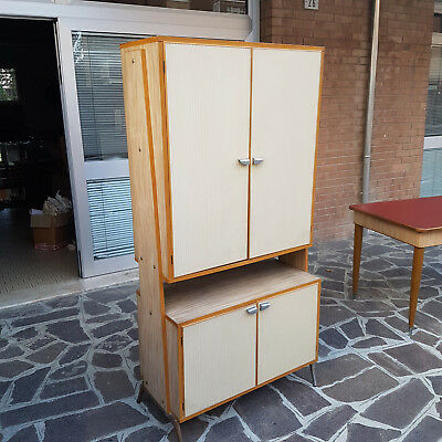 Nice Vintage Buffet Sideboard Bookcase Italian Production 1950
