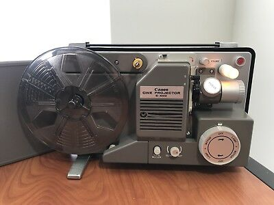 VINTAGE Canon S-400 Sine Projector WITH Rare Leather Cover