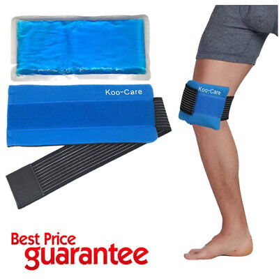 Gel Ice Pack And Wrap Cold Hot Therapy Pad Reusable Pain Relief Sport Compress