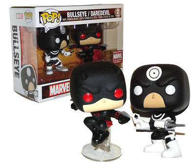 Funko Pop! Bullseye and Daredevil MARVEL Collector CORPS 2-Pack Exclusive w case