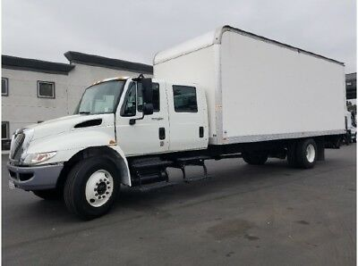 International crew cab quad 24' box truck hino freightliner mover moving studio