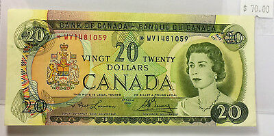 Canada 1969 $20 Replacement note *WV   VF condition N261