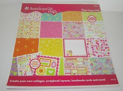 NEW American Girl Crafts SCRAPBOOK Super Paper Pad 150 Sheets12×12 RETIRED