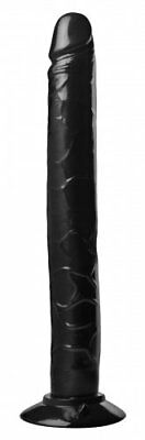 Master Series Black Tower Of Pleasure 12.5 Inch Huge Realistic Suction Cup Dildo