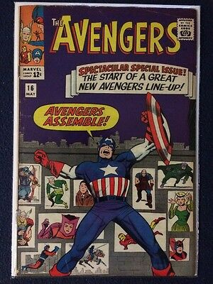 Avengers #16 1963 Marvel Comics New Team Scarlet Witch, Hawkeye, Quicksilver 4.0