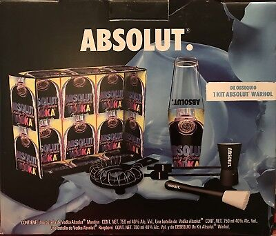 Absolut Vodka Warhol Bar Kit Mexico * Edition 2014 * New * No Bottles
