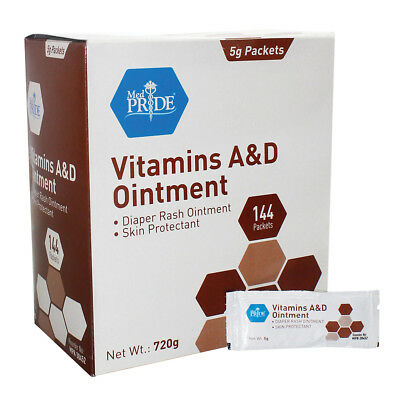 VITAMINS A&D TATTOO Ointment 144ct 5g Packets Skin Protectant Aftercare  #MP30452