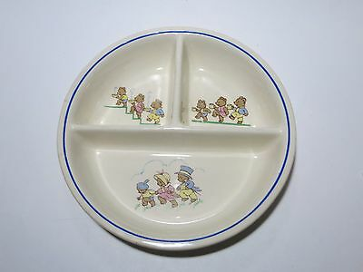 Vintage Three Little Bears Ceramic Baby Food dish Bowl Cambridge Juvenile Ware