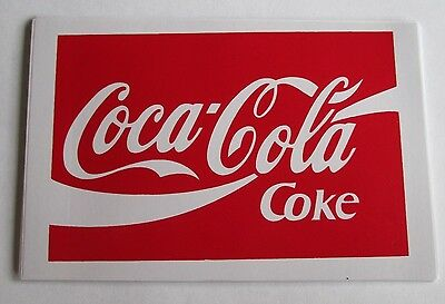 Coca Cola Coke brand new large rectangle soft drink fridge door sticker decal