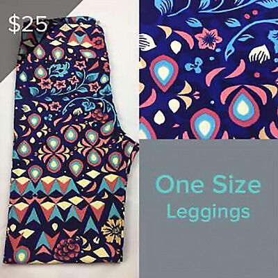 LuLaRoe NEW OS leggings One Size NWT Purple / Pinks And Blue Floral