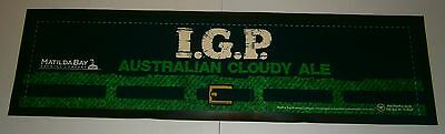 Matilda Bay IGP Beer rubber backed pub drink mat runner for home bar collector